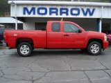 2008 Victory Red Chevrolet Silverado 1500 LT Extended Cab 4x4 #64188145