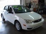 2005 Cloud 9 White Ford Focus ZX4 SE Sedan #64188567
