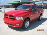 2012 Flame Red Dodge Ram 1500 Express Regular Cab #64188349