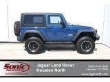 2010 Deep Water Blue Pearl Jeep Wrangler Sport 4x4 #64188273