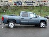 2012 Blue Granite Metallic Chevrolet Silverado 1500 LT Crew Cab 4x4 #64188211