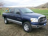 2007 Patriot Blue Pearl Dodge Ram 1500 SLT Quad Cab 4x4 #64228302