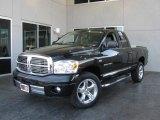 2007 Brilliant Black Crystal Pearl Dodge Ram 1500 Laramie Quad Cab 4x4 #6401941