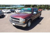 2002 Dark Carmine Red Metallic Chevrolet Silverado 1500 LS Extended Cab #64228883