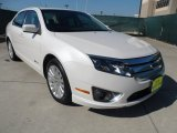 2010 White Platinum Tri-coat Metallic Ford Fusion Hybrid #64228542