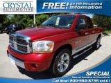 2006 Inferno Red Crystal Pearl Dodge Ram 1500 Laramie Quad Cab #64228878