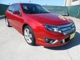 2010 Sangria Red Metallic Ford Fusion Sport #64228541