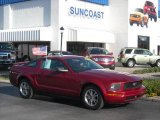 2005 Redfire Metallic Ford Mustang V6 Deluxe Coupe #6413428