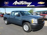 2012 Blue Granite Metallic Chevrolet Silverado 1500 Work Truck Extended Cab 4x4 #64289555