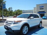 2013 White Platinum Tri-Coat Ford Explorer Limited #64288830