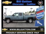 2007 Blue Granite Metallic Chevrolet Silverado 1500 LT Extended Cab 4x4 #64289473