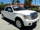 2011 White Platinum Metallic Tri-Coat Ford F150 Platinum SuperCrew #64288809