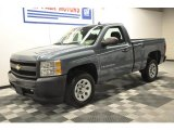 2008 Graystone Metallic Chevrolet Silverado 1500 Work Truck Regular Cab #64289453