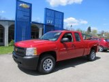 2012 Victory Red Chevrolet Silverado 1500 Work Truck Extended Cab 4x4 #64288797
