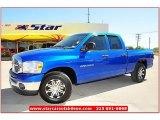 2007 Electric Blue Pearl Dodge Ram 1500 Lone Star Edition Quad Cab #64289092