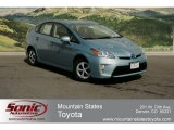 2012 Sea Glass Pearl Toyota Prius 3rd Gen Four Hybrid #64288653