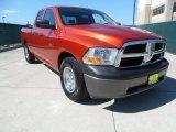 2009 Sunburst Orange Pearl Dodge Ram 1500 ST Quad Cab #64288982