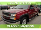 2004 Sport Red Metallic Chevrolet Silverado 1500 Z71 Crew Cab 4x4 #64353126
