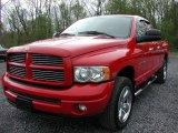 2004 Flame Red Dodge Ram 1500 SLT Quad Cab 4x4 #64353333