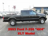 2003 Black Ford F250 Super Duty XLT Crew Cab 4x4 #64353307