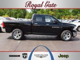 2012 Black Dodge Ram 1500 Big Horn Quad Cab 4x4 #64353289
