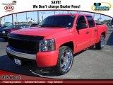 2007 Victory Red Chevrolet Silverado 1500 LT Crew Cab 4x4 #64353269