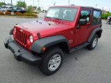 2012 Deep Cherry Red Crystal Pearl Jeep Wrangler Sport S 4x4 #64353225