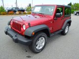 2012 Deep Cherry Red Crystal Pearl Jeep Wrangler Sport S 4x4 #64353224