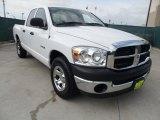 2008 Bright White Dodge Ram 1500 ST Quad Cab #64352927
