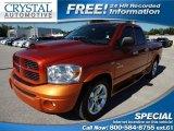 2008 Sunburst Orange Pearl Dodge Ram 1500 Sport Quad Cab #64353182