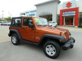 2010 Mango Tango Pearl Jeep Wrangler Sport 4x4 #64352878