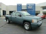 2008 Blue Granite Metallic Chevrolet Silverado 1500 LS Extended Cab 4x4 #64352873