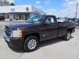 2009 Dark Cherry Red Metallic Chevrolet Silverado 1500 LS Regular Cab 4x4 #64405011