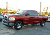 2006 Inferno Red Crystal Pearl Dodge Ram 1500 ST Quad Cab #64404958