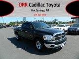 2008 Brilliant Black Crystal Pearl Dodge Ram 1500 ST Quad Cab #64404886