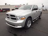 2012 Bright Silver Metallic Dodge Ram 1500 Express Quad Cab 4x4 #64404879