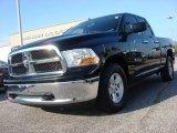 2010 Brilliant Black Crystal Pearl Dodge Ram 1500 SLT Quad Cab #64404471