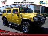 2003 Yellow Hummer H2 SUV #64405263