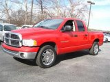 2005 Flame Red Dodge Ram 1500 SLT Quad Cab #64405212