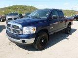 2008 Patriot Blue Pearl Dodge Ram 1500 Big Horn Edition Quad Cab 4x4 #64404742