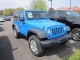 2011 Cosmos Blue Jeep Wrangler Sport 4x4 #64404314