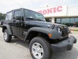 2012 Black Jeep Wrangler Sport 4x4 #64404726