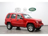 2002 Flame Red Jeep Liberty Limited 4x4 #64478889