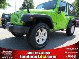 2012 Gecko Green Jeep Wrangler Sport S 4x4 #64510786