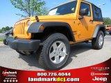 2012 Dozer Yellow Jeep Wrangler Sport S 4x4 #64510785