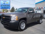 2012 Mocha Steel Metallic Chevrolet Silverado 1500 Work Truck Regular Cab 4x4 #64510679
