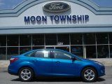 2012 Blue Candy Metallic Ford Focus SE Sport Sedan #64510867