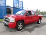 2008 Victory Red Chevrolet Silverado 1500 Work Truck Extended Cab 4x4 #64554680