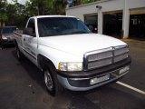 2001 Bright White Dodge Ram 1500 SLT Regular Cab #64554555