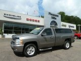 2007 Graystone Metallic Chevrolet Silverado 1500 LT Regular Cab 4x4 #64554952